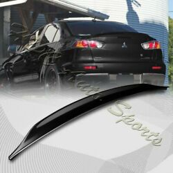 For 2008-2017 Mitsubishi Lancer Evo 10 Painted Black Rear Trunk Duck Lid Spoiler