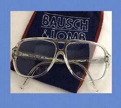 Bausch & Lomb Glasses 70s Action Eyes Retro Racquetball Goggle Clear Aviator EUC