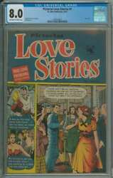 Pictorial Love Stories 1 Cgc 8.0 Ow/wh Pages