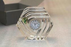Comdisco Waterford Crystal Clock Collectible Advertising Item