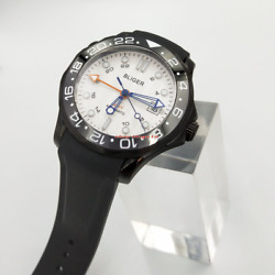 41mm White Dial Luminous Gmt Pvd Case Sapphire Glass Date Automatic Men Watch