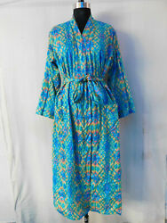 Gypsy Nightwear Sexy Dressing Long Crossover Intimates Viscose Cotton Kimono 159