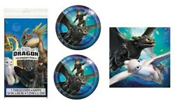How To Train Your Dragon Birthday Party Supplies 16 Plates Napkins Table Cover