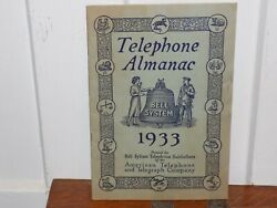 1933 Bell System Telephone Almanac American Telephone And Telegraph Company