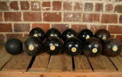 Vintage Jaques And Son Set Of Bocce Balls London Lawn Bowling