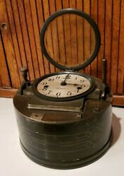 ANTIQUE  VINTAGE *CALCULAGRAPH* CLOCK DRIVER BILLARDS  POOL HALL ITEM**NICE**