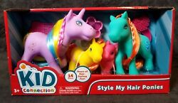 Style My Hair Ponies With Brush Kid Connection Horse Pony Comb Beads Foal Toys 2