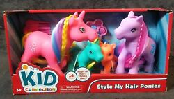Style My Hair Ponies With Brush Kid Connection Horse Pony Comb Beads Foal Toys 1