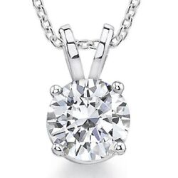Classic 4-prong Basket Round Forever One Moissanite Solitaire 14k White Gold