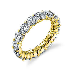 3.00 Ct Diamond 14k Solid Yellow Gold Eternity Band Ring