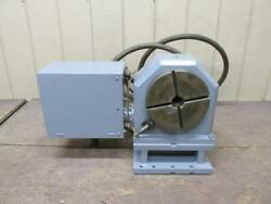 Brown And Sharpe 360k-c77-dl-em-1c Cnc Indexing Table 4th Axis 9 Hydraulic Clamp