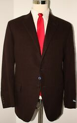 Nwt Polo Solid Brown 3 Button 100 Cashmere Sport Coat Size 46 R