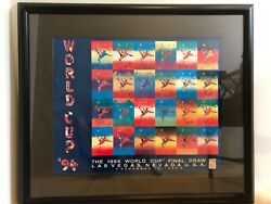 1994 Official Fifa World Cup Poster By Peter Max Autographed By The Teamandnbsp