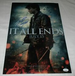 Daniel Radcliffe Signed Harry Potter And The Deathly Hallows 12x18 Poster Jsa 3