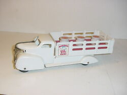 Vintage Marx Dairy Milk Truck W/inserts And Bottles W/box Super Nice Condition