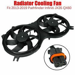 For 2013-19 Pathfinder Infiniti Jx35 Qx60 Ac Radiator Dual Cooling Fan Assembly