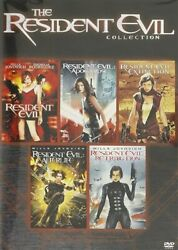 The Resident Evil Collection New Sealed Dvd First 5 Films 1 2 3 4 5