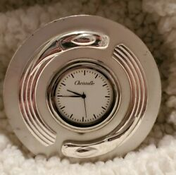 Christofle Rare Vintage Silver Plated Mantle Table Clock 1970