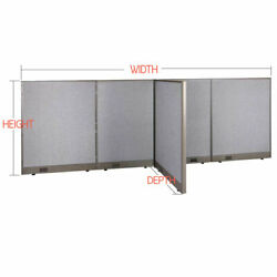 Gof T-shaped Freestanding Office Partition Panel Room Divider 72h