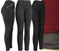 Womenand039s Winter Plush Lined Thick Pants - Dressy Leggings