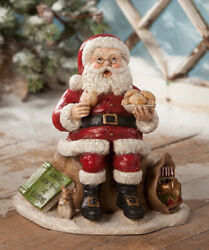 New 2019 Bethany Lowe Designs Christmas Counting Calories Santa Td8560