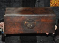 13antique China Huanghuali Wood Dynasty Jewelry Vessel Box Storage Chest Boxes