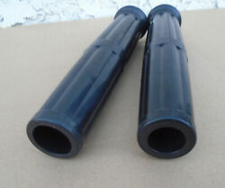 1 And 7/8 Set Real Rubber Motorcycle Grips Antique Vintage Classic Early Bikes