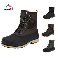 Nortiv 8 Menand039s Snow Boots Insulated Waterproof Rugged Duty Outdoor Winter Boots
