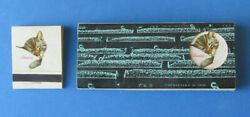 Vintage Chesapeake And Ohio Railroad Matchbook Cando Chessie Cat Coal Mining 6 Pack