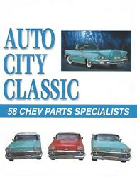 1958 Chev Impala Convertible Seat Molding Upper Rear Pair And 58 Parts Catalog