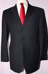Blue Traveller Micronsphere 3 Button Dual Vented Wool Suit 42 Reg 36 31