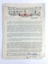 1933 Shaw Manufacturing Co Signed Advertising Brochure Converting Model T Ford