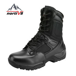 NORTIV 8 Mens Desert Military Combat Tactical Work Boots Hiking Motorcycle Boots $41.99