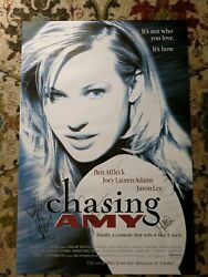 Chasing Amy Cast Signed 27x40 Movie Poster Joey Lauren Adams Kevin Smith More