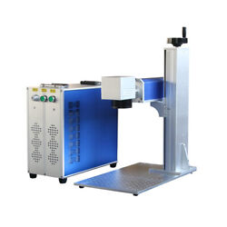 30w Raycus Fiber Laser Marking Machine 200x200mm And 300x300mm Lens With Rotary