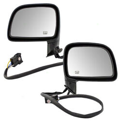 Pair Side View Power Door Mirrors fits 1995-1997 Lincoln Town Car Heated Set