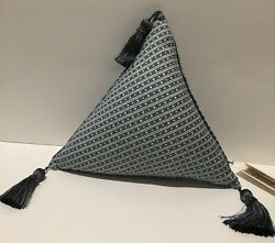 New Les Olivades Provence Pillow Triangleandnbsppierre Deux Souleiado Blue White