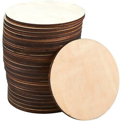 24 Round Wooden Drink Coasters Circle Cup Coasters For Home Kitchen 3.875 Dia