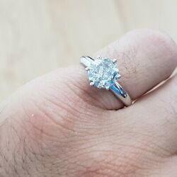 2.17 Ct Round Cut White Gold Diamond Engagement Ring E Color Si1