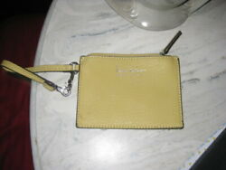 Nicole Miller Mustard Yellow Leather Small Wristlet 6quot; x 4quot; $12.95
