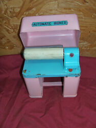 Old Toy Automatic Ironer Play Kids Doll Clothes House Vintage Girls Childs Iron