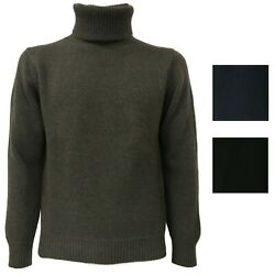 Jersey Polo Neck Tredicinodi Mod. M13101 70%Wool 30%Cashmere Made in Italy