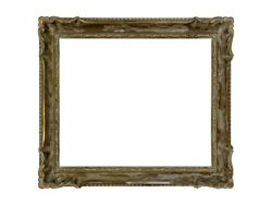 American 1940 White Washed Arts And Crafts Picture Frame Stamped By Grieve 18x20