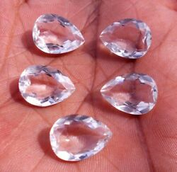 Lot 3x5mm To 10x14mm Pear Faceted Cut- Aaa Natural Crystal Quartz Loose Gemstone