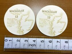 New Macallan 12 Years Paper Coaster Pair Scotch Whiskey Limited Japan