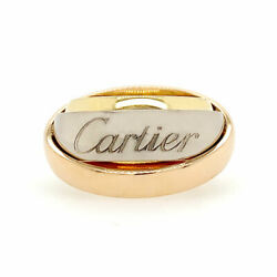 Trinity Tri-color Spinning Ring 18k White Rose And Yellow Gold
