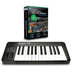 Alesis Q25 25-Key MIDI Keyboard Controller Packages Virtual Instrument Package