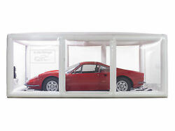 In The Garage 16and039 Ultimate Car Shield Inflatable Showcase Car Cover Indoor White