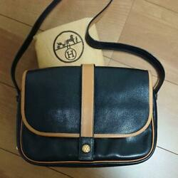 Hermes Shoulder Bag Pouch Snap Button Vintage Used From Japan F/s