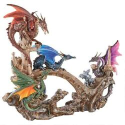 Victory Norse Mythology Valkyrie Led Battle Of Asgard Five Gothic Dragons Statue